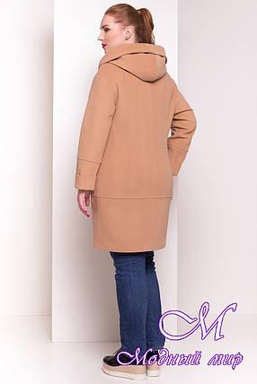 Кашемировое женское пальто с капюшоном (р. XL, XXL, XXXL) арт. Анита Донна 4421 - 21829, фото 2