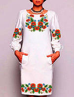 Заготовка для вишивки жіночого плаття бісером або нитками