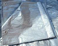 """Тент от дождя и снега""""Grey"""" 100g\m2  6х10м. Ламинированный с кольцами. Пологи."""