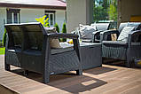 Комплект садових меблів зі штучного ротангу CORFU BOX графіт ( Allibert ), фото 3