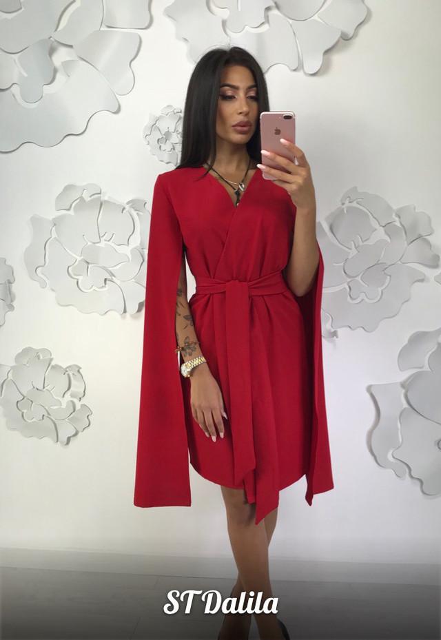 144554a4aa0 Модное платье с необычными рукавами. Ткань  Костюмка люкс. Размер  42-44