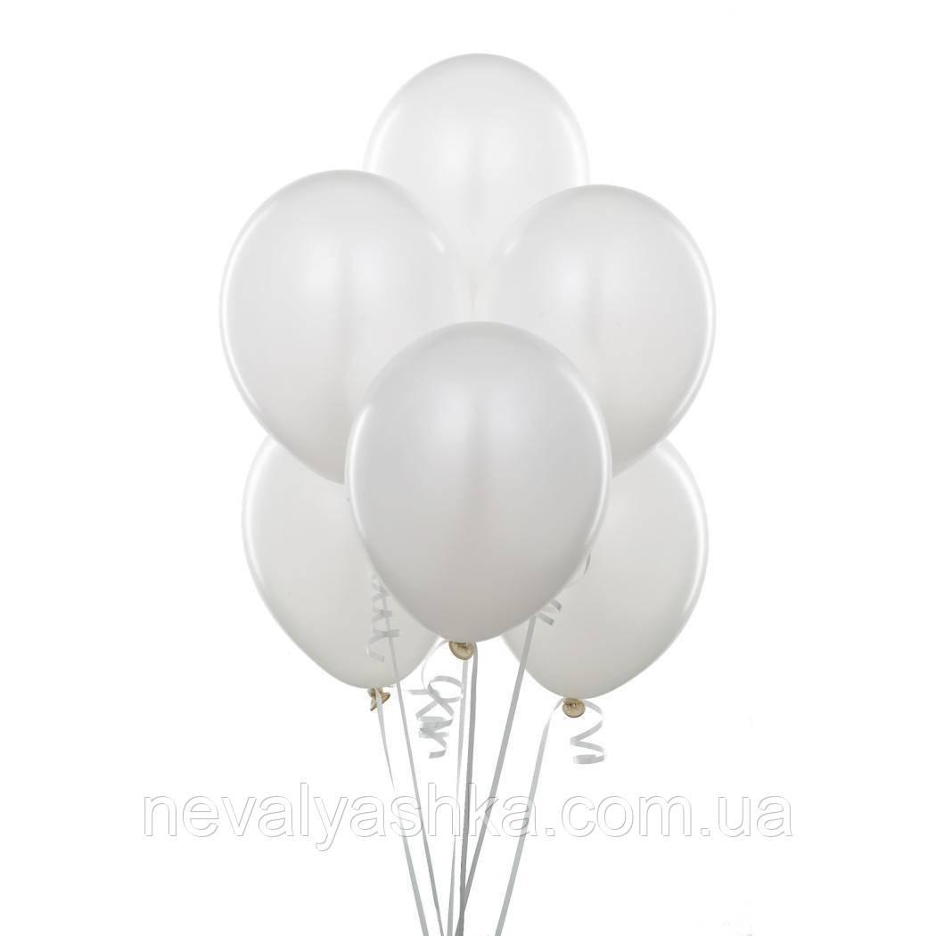Шар Воздушный Белый Цвет 12 Латексные Шары Белые Шарики Надувные Воздушные Летекс 004313
