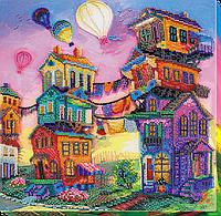 Набор для вышивки бисером на холсте Під кольоровими небесами