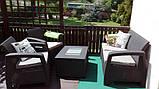 Комплект садових меблів зі штучного ротангу CORFU BOX графіт ( Allibert ), фото 4