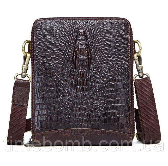 e7272fedff48 Мужская тонкая кожаная наплечная сумка Contacts: продажа, цена в ...