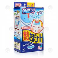 Охлаждающий пластырь для детей, жаропонижающий Kobayashi 16 шт