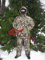 """Зимний камуфляжный костюм для рыбалки и охоты VERUS """"Зеленый камыш"""" утепленный на флисе"""