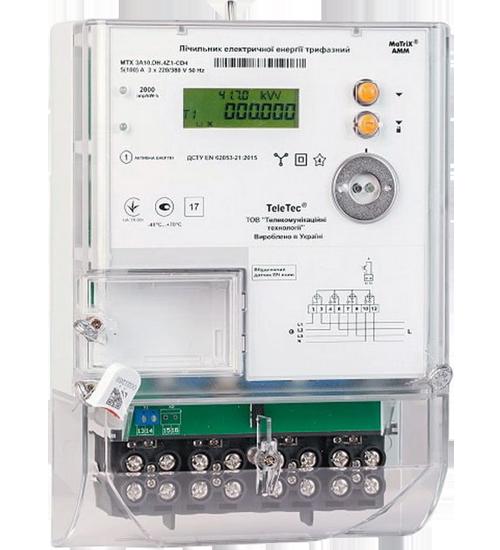 Электросчетчик MTX 3R30.DF.4L1-СDO4 трехфазный многотарифный