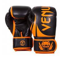 Перчатки тренировочные Venum Challenger 2.0 Boxing Gloves Neo Orange/Black, фото 1