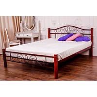 Металлическая кровать «Лара Люкс Вуд» 1400*2000