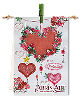 Набор-флажок для вышивки бисером на холсте Гирлянда