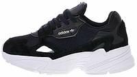 Кроссовки Adidas Falcon Core Black White | Адидас Фалькон | Адідас
