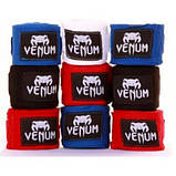 Боксерские бинты Venum BOXING HANDWRAPS - Black 2.5м - 4 м, фото 2