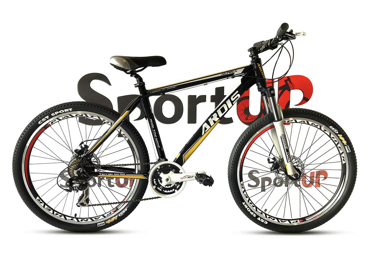 """Горный велосипед ARDIS ALPINA 26"""" 19""""  Черный/Желтый"""