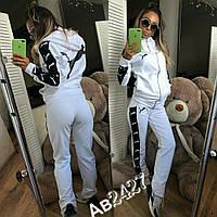 Женский спортивный костюм Puma Пума ткань турецкая двухнитка белый, фото 1
