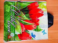 Пакет полиэтиленовый с петлевой ручкой Тюльпаны 38*43 см