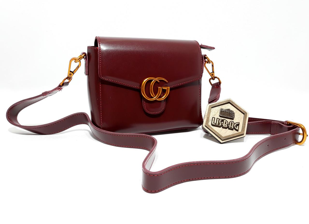 75f5d364d177 Женская Бордовая сумка через плече Gucci реплика хорошего качества ...