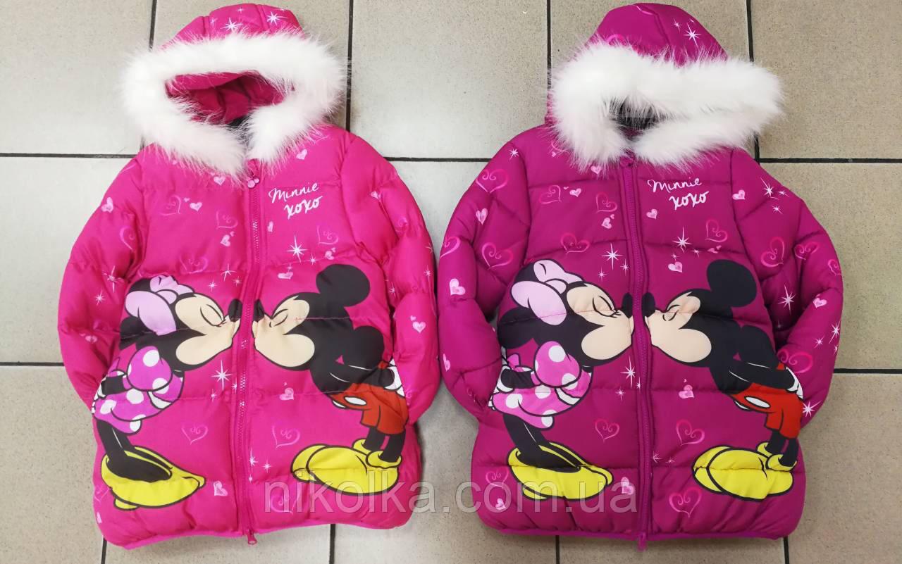 Куртка на флисе для девочек оптом, Disney, 98-134 рр., арт.82608