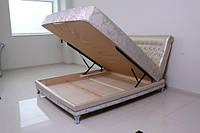 """Кровать """"Фараон"""" двуспальная с мягким изголовьем и подъемным механизмом , фото 5"""