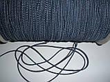 Шляпная резинка (круглая) 2мм синяя в белую точку, фото 4