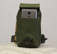 Сумочка - борсетка для карточек и телефона скрытого ношения (плечевая) Olive (305 олива), фото 2