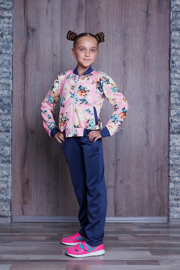 2119b1a28109 Детский спортивный костюм с цветочным принтом 3 расцв.(122-146разм ...