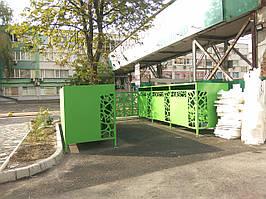 Мусорный контейнер (Павільйон для сміттєвих баків (подвійний)