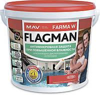 Краска MAV FLAGMAN FARMA W антимикробная защита при повышенной влажности 11 литров