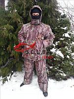"""Зимний камуфляжный костюм для рыбалки и охоты VERUS """"Лес 3D зеленый"""" утепленный на флисе"""
