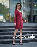 Женское платье с застежкой на пуговицах в расцветках. И-2-0818
