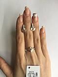 Срібний набір прикрас з золотими вставками, фото 2