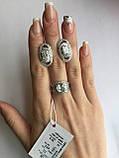 Серебряный комплект украшений с фианитами, фото 2