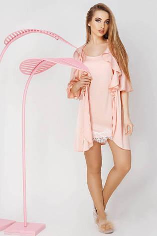 Комплект халат и ночная рубашка, фото 2