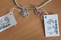 Шарм Бабочка из серебра 925 пробы - покрытие родий