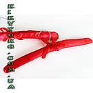 Плечики вешалки мягкие сатиновые для деликатных вещей ярко красного цвета, длина 380 мм