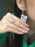 Срібний набір з камінням, фото 2