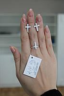 Комплект украшений Крест из серебра 925 пробы с камнями