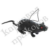 Резиновая Крыса 10см (черная)