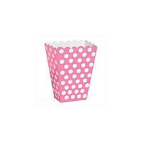 Коробка для солодощів в рожевий горох