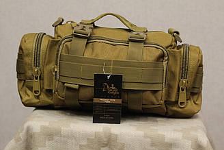 Тактическая универсальная (поясная, наплечная) сумка Silver Knight с системой M.O.L.L.E (105-coyote)