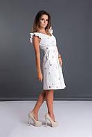 Платье женское короткое из прошвы с рукавами-крылышками P10328, фото 1