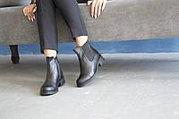 Ботинки из натуральной черной кожи №468-3 (Брук), фото 1