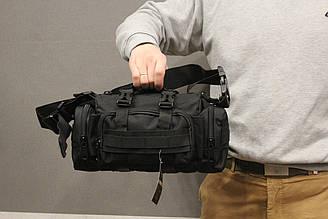 Тактическая универсальная (поясная, наплечная) сумка Silver Knight с системой M.O.L.L.E (105-black)