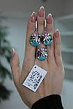 Серебряный комплект с разноцветными камнями, фото 2