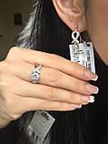 Срібний комплект прикрас з золотом, фото 2