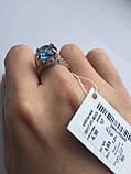 Серебряное кольцо 925 пробы с камнями, фото 2