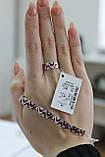 Серебряный комплект с эмалью, покрыт родием, фото 4
