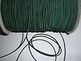 Шляпная резинка (круглая) 2мм зеленая, фото 3