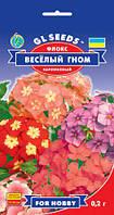 Флокс Веселый Гном смесь карликовая обильноцветущая декоративная цветки душистые, упаковка 0,2 г
