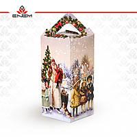 Новогодняя коробка «ЧЕТЫРЕХГРАННИК»